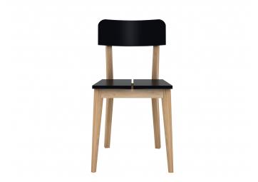 Chaise M noire en chêne - ETHNICRAFT