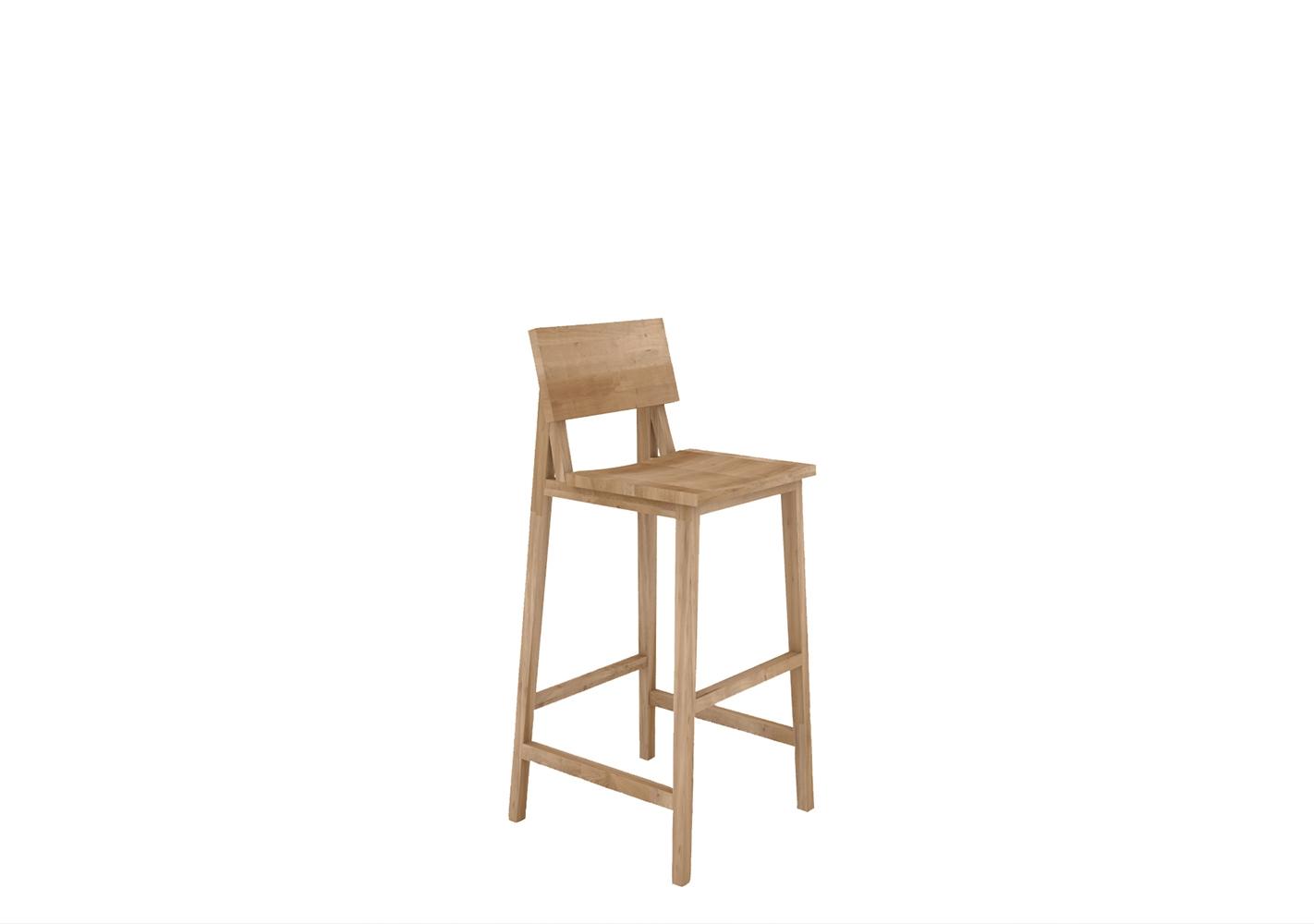 Chaise haute N4 en chêne - ETHNICRAFT
