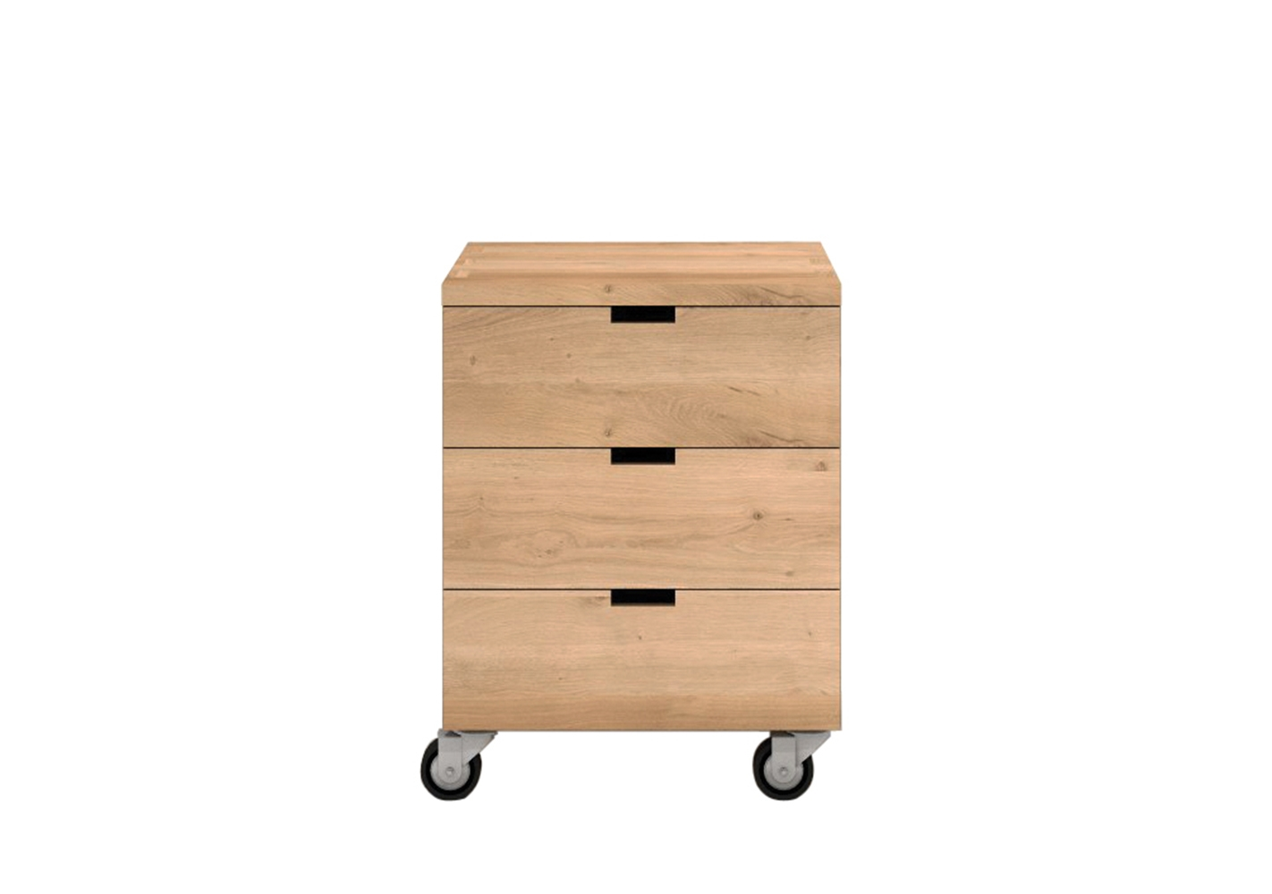 caisson de bureau billy en ch ne 3 tiroirs by ethnicraft. Black Bedroom Furniture Sets. Home Design Ideas