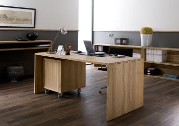 Table de bureau U en chene - ETHNICRAFT