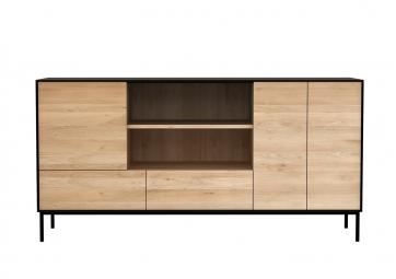 Buffet Blackbird en chêne - 3portes/2 tiroirs - ETHNICRAFT
