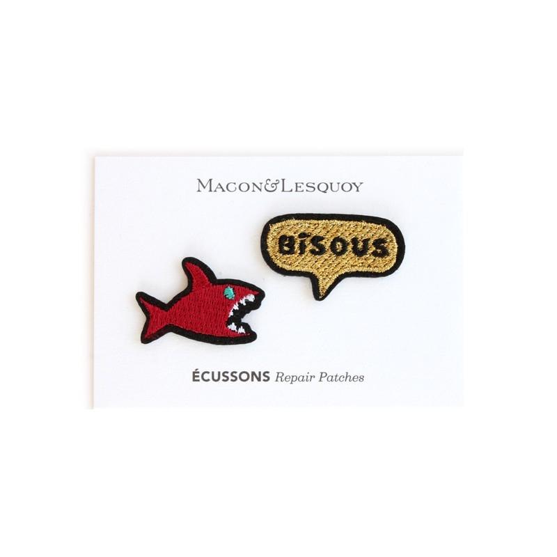 2 écussons requin + bisou - MACON & LESQUOY