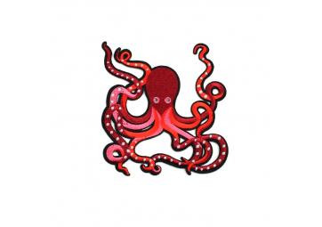 Grand écusson Pieuvre rouge - MACON & LESQUOY