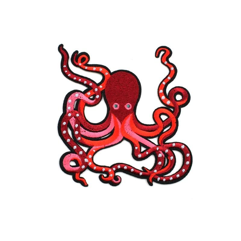 1 grand écusson pieuvre rouge - MACON & LESQUOY