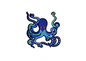 Ecusson Pieuvre bleue - MACON & LESQUOY
