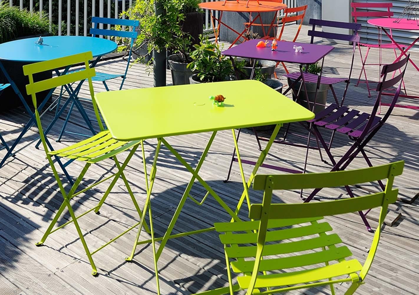 Table pliante Bistro 57x57 romarin - FERMOB