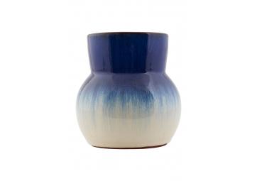 Vase bleu délavé h15cm - HOUSE DOCTOR