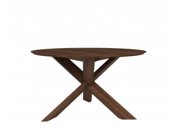 Table ronde Circle en noyer - ETHNICRAFT