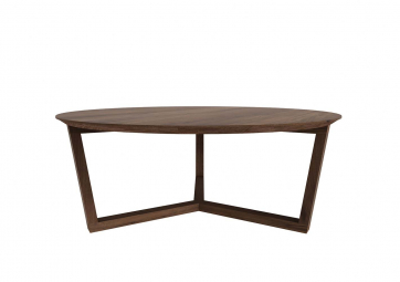 Table basse Tripode en noyer - ETHNICRAFT