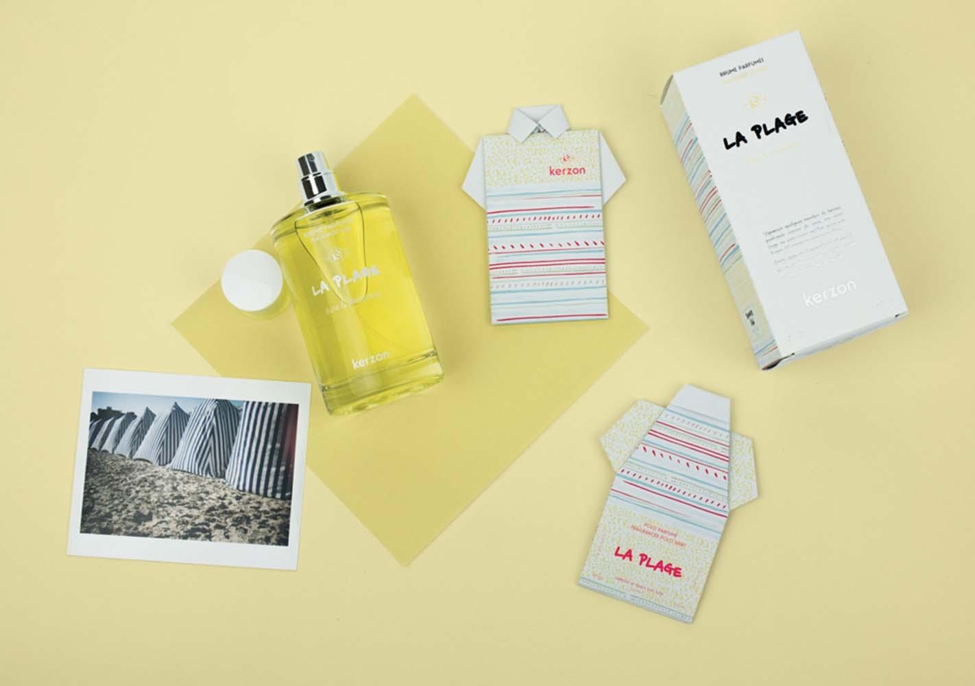 Lot de deux pochettes parfumées - La plage - KERZON