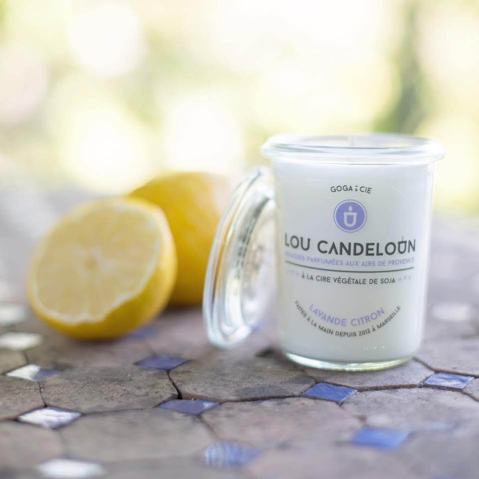 Bougie lavande citron - LOU CANDELOUN
