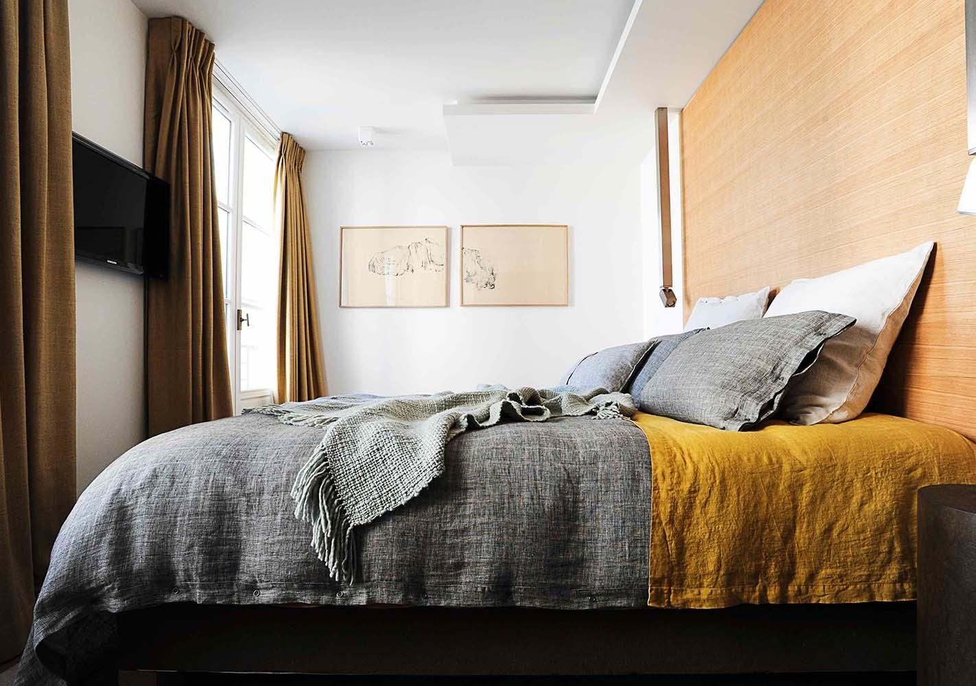 housse de couette 240x220 lin acier by lissoy. Black Bedroom Furniture Sets. Home Design Ideas