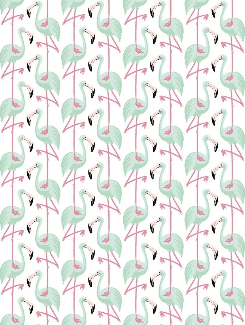 Papier peint Pink Flamingo - PAPERMINT