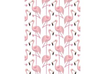 Papier peint Flamingo Rose et blanc - PAPERMINT