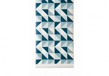 Papier Peint REMIX Bleu - FERM LIVING