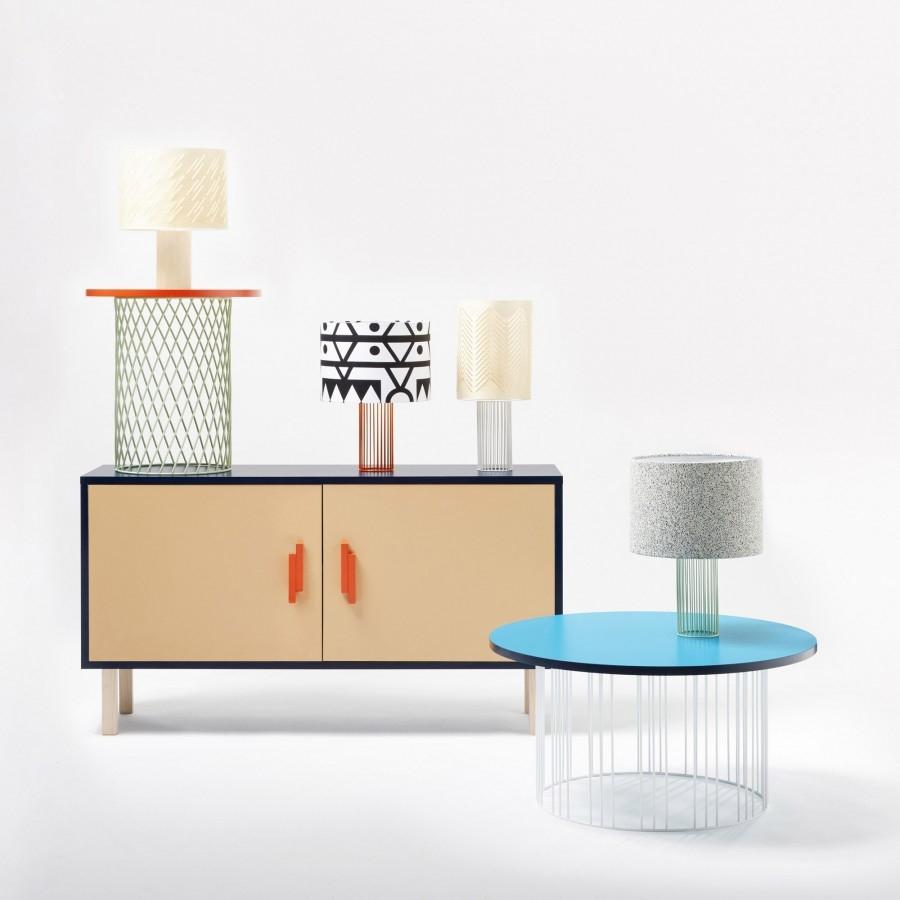 Lampe Magic pied orange / bleu - COLONEL