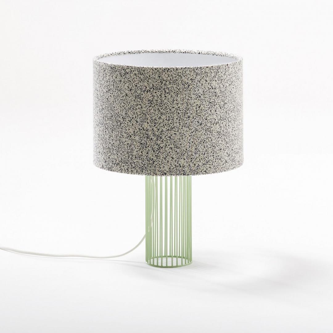 Lampe Magic pied vert / noir & blanc - COLONEL