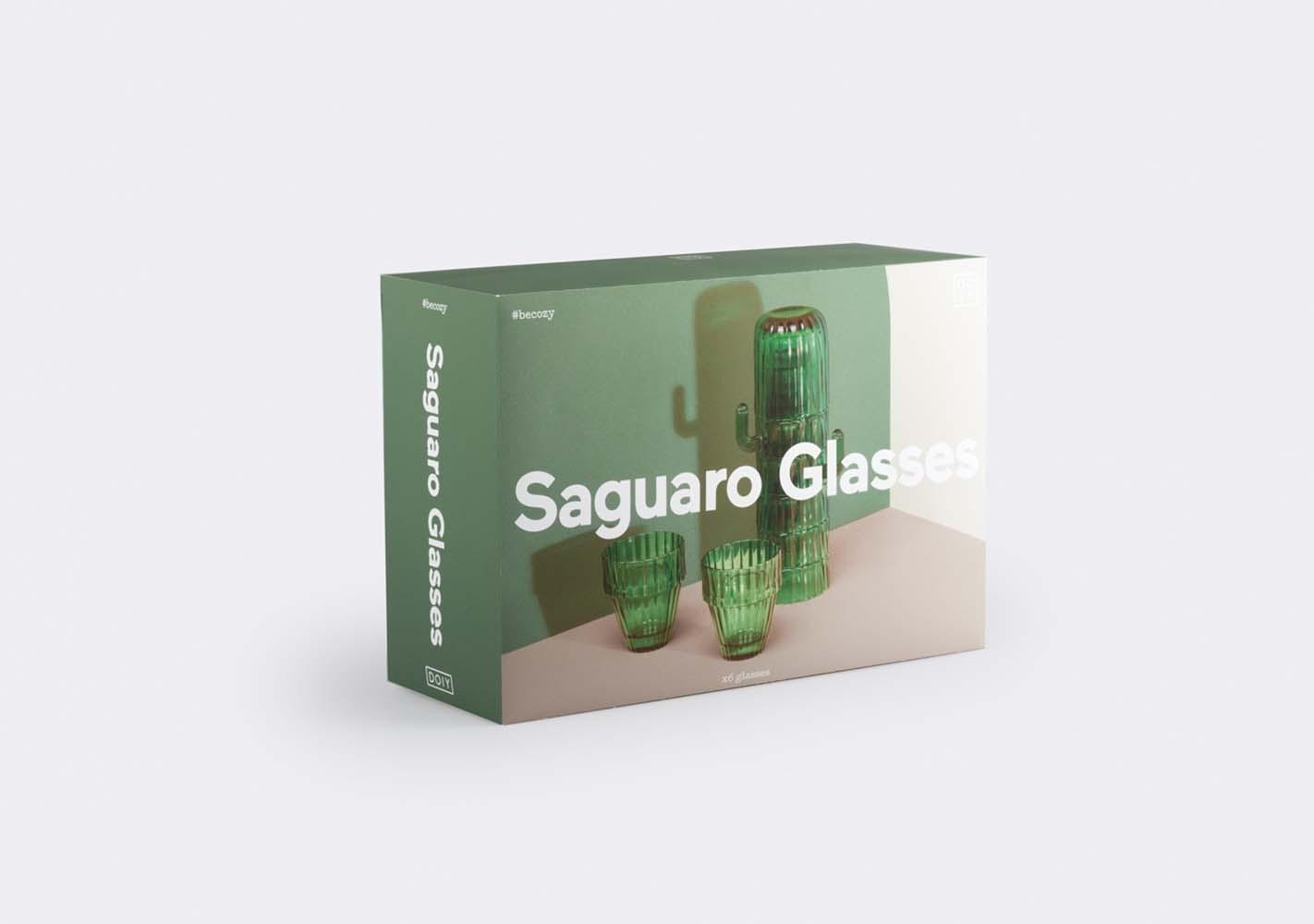 Lot de 6 verres Cactus Saguaro - DOIY