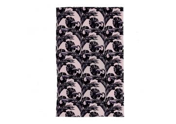 Serviette Tucan Rose Quartz noir - single - BALITOWEL