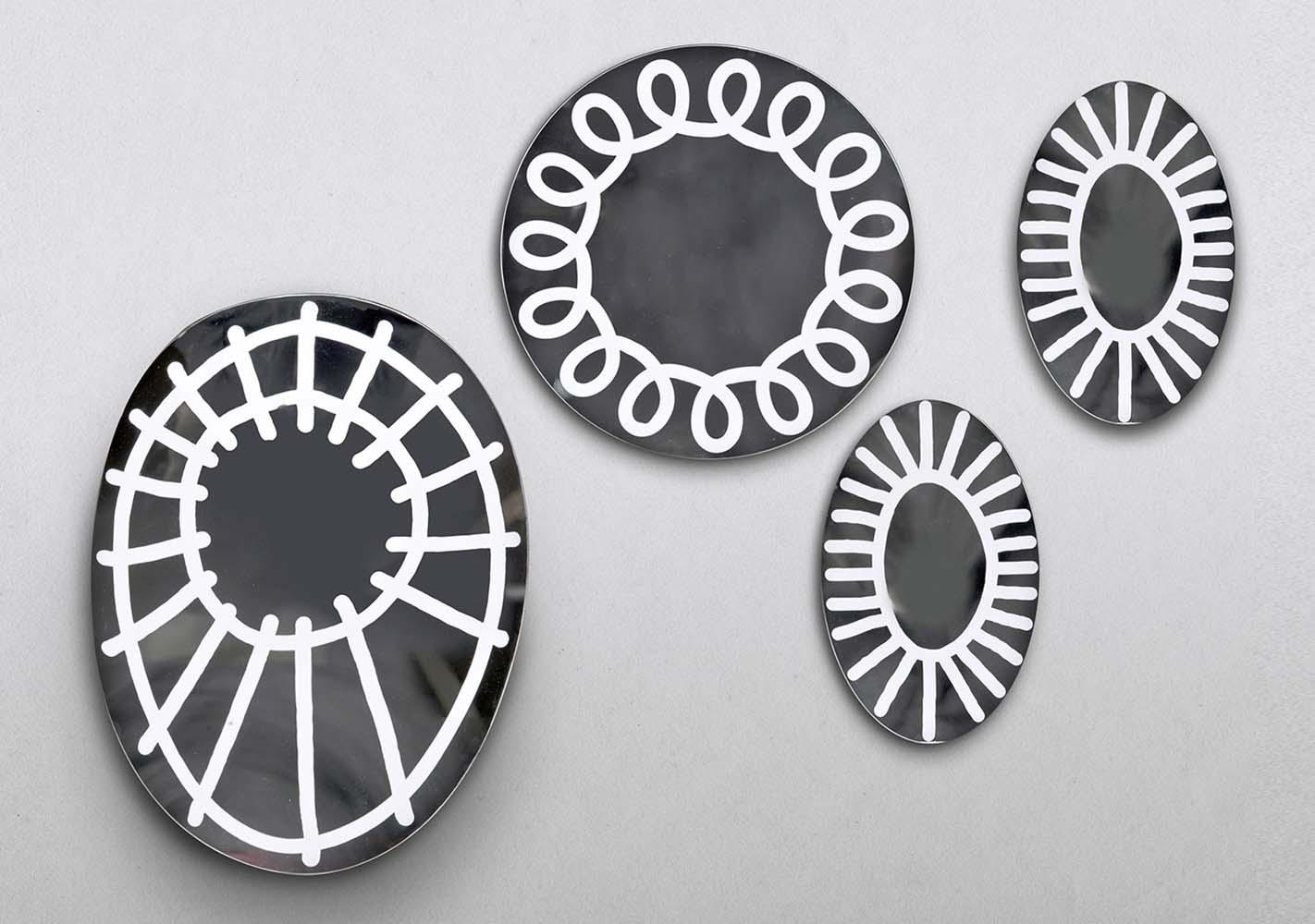 Miroir Brick 98 - 75x75 laqué blanc - GERVASONI
