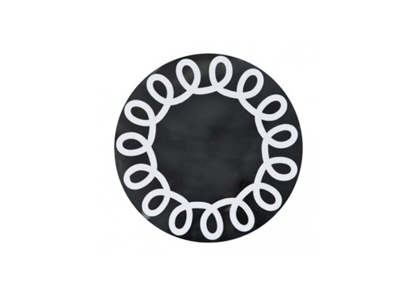 Miroir Brick 99 - diam50 laqué blanc - GERVASONI