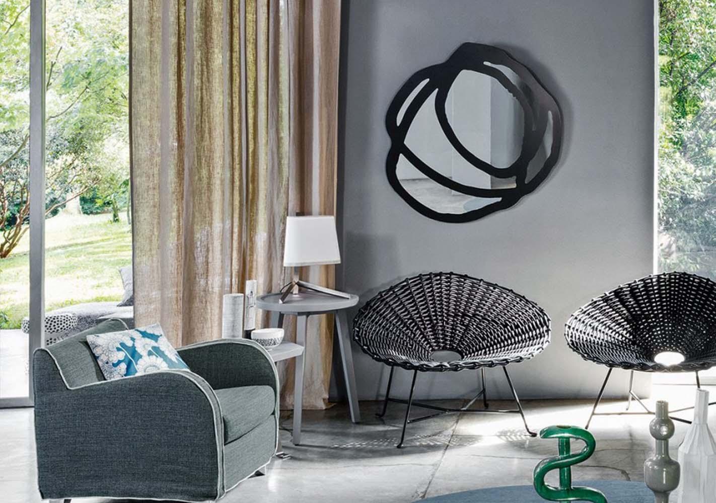 Miroir sérigraphié Sweet 98 - noir 100x100 - GERVASONI