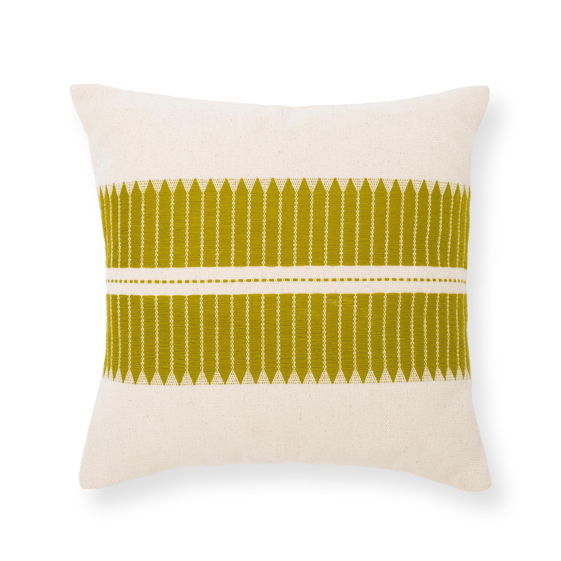 Coussin Manipuri Arrow - vert citron - MILLE ET CLAIRE