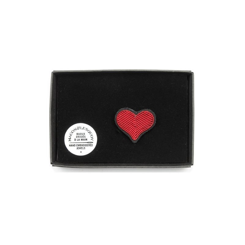 Broche Coeur rouge - MACON & LESQUOY