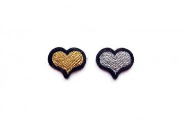Ecussons Coeurs doré + argenté - MACON & LESQUOY