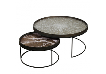 Set de Tables basses Round Tray XL - ETHNICRAFT ACCESSOIRES