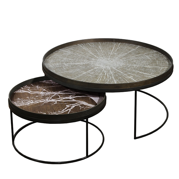 Set de Tables basses Round Tray XL - NOTRE MONDE