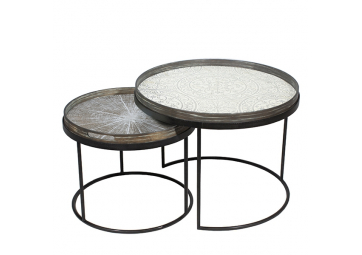 Set de Tables basses Round Tray - ETHNICRAFT ACCESSOIRES