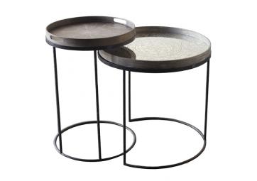 Set de Tables hautes Round Tray - ETHNICRAFT ACCESSOIRES