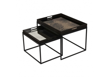 Set de 2 Tables basse Rectangle Tray - ETHNICRAFT ACCESSOIRES