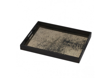 Plateau rectangulaire Heavy Aged Bronze Mirror - ETHNICRAFT ACCESSOIRES