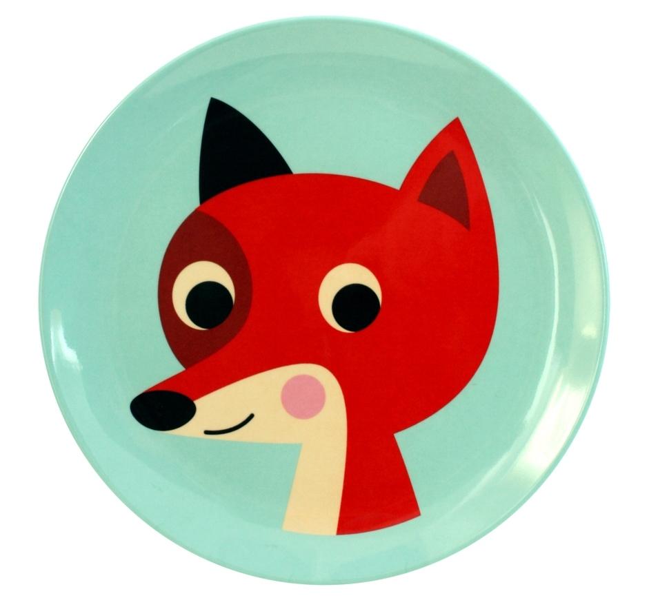 Assiette Fox Mint - OMM DESIGN