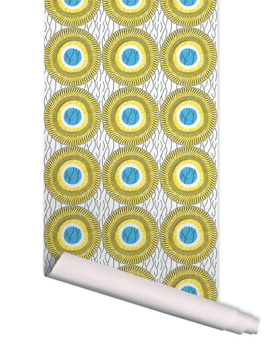 papier peint wax d de papermint. Black Bedroom Furniture Sets. Home Design Ideas