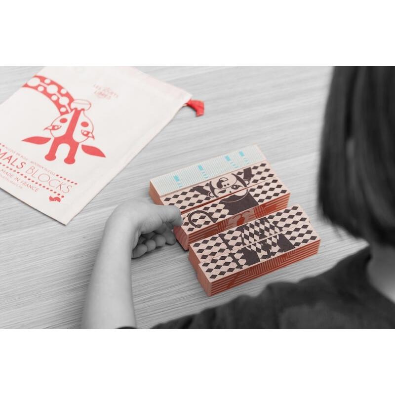 """Puzzle en bois """"Animals Blocks"""" - LES JOUETS LIBRES"""