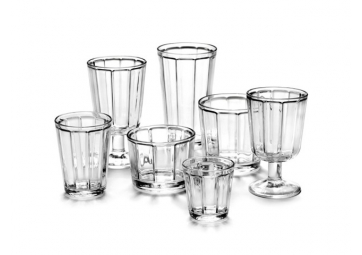 "Lot de 4 verres à vin "" Surface"" - SERAX"
