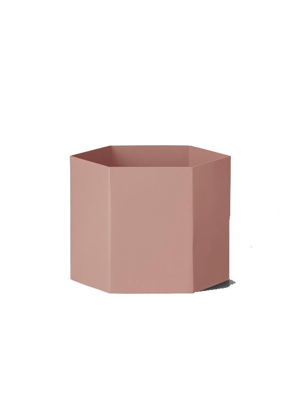 Pot Hexagon rose - FERM LIVING