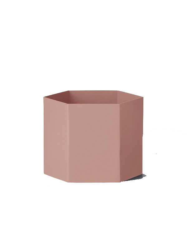 Pot Hexagon rose - FERM LIVING