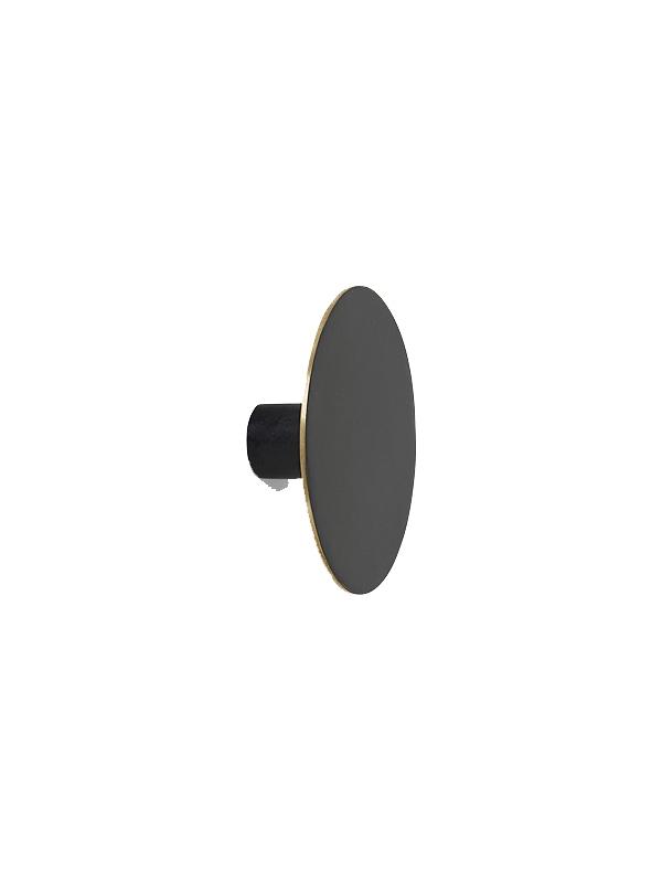 Patère en laiton teinté noir - FERM LIVING