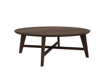Table basse ronde en noyer Osso - ETHNICRAFT