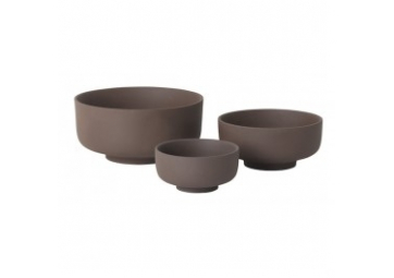 Lot de 3 bols en grès - FERM LIVING