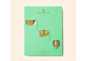 Lot de 3 clips métalliques El Retiro - OCTAEVO