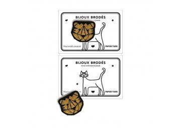 Broche Tigre doré - MACON & LESQUOY