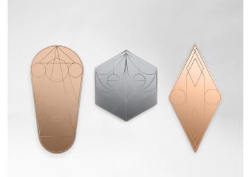 Miroir mask hexagone gris - PETITE FRITURE