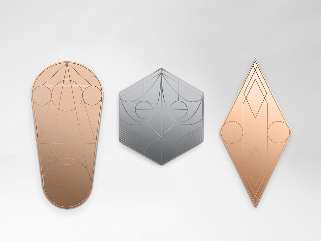 Miroir mask ovale bronze - PETITE FRITURE