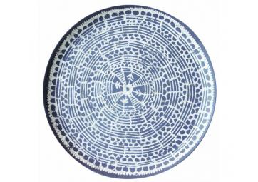 Assiette en bambou Mandala Indigo - URBAN NATURE JUNGLE
