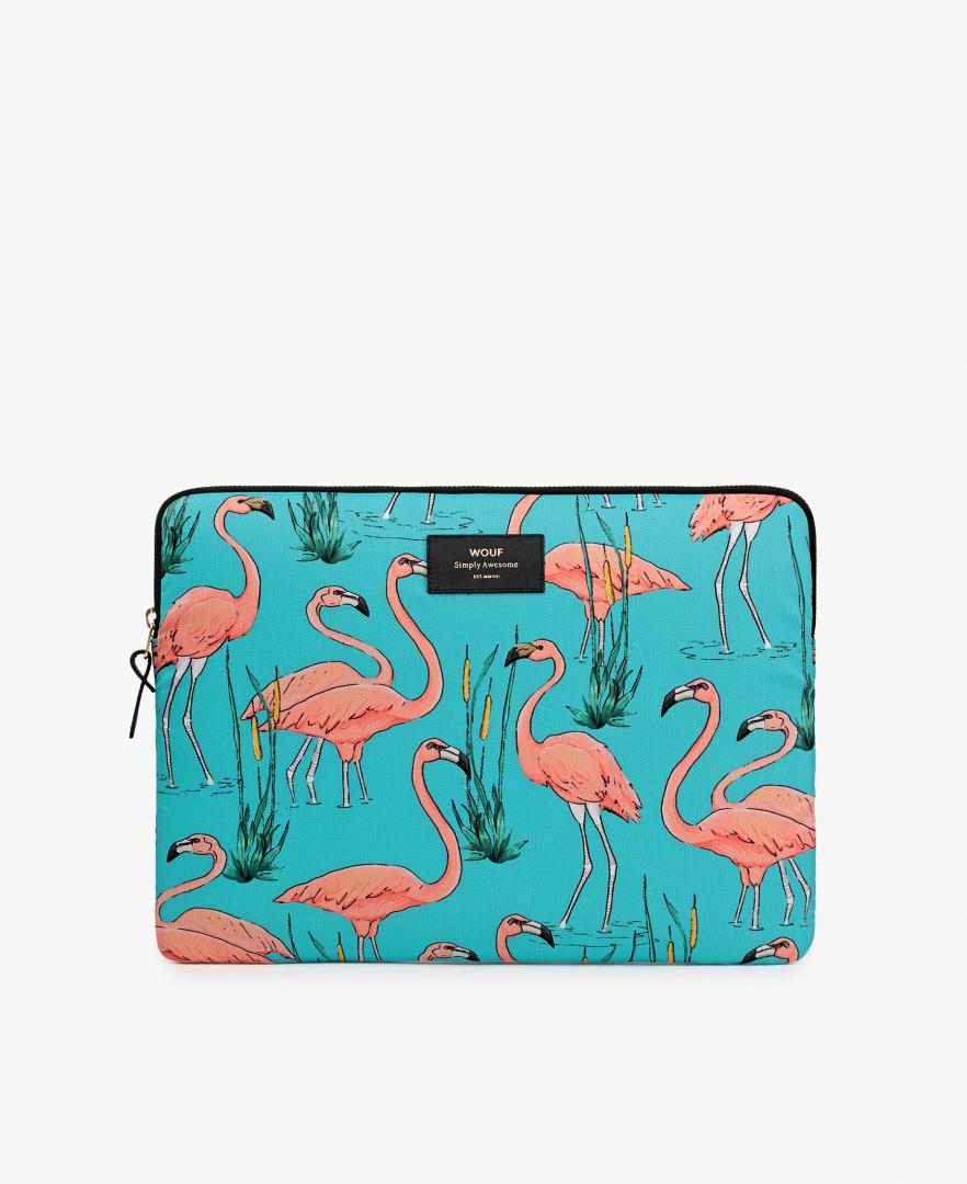 Housse Pink Flamingo macbook 13' - WOOUF